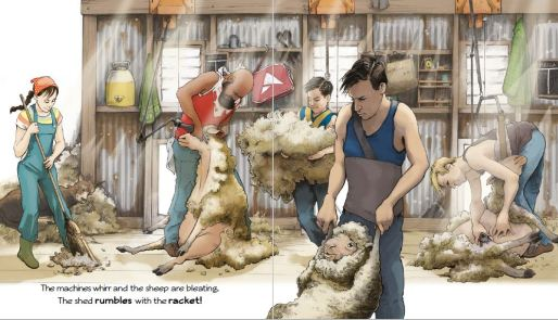 The Shearers at work